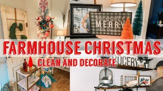 CHRISTMAS CLEAN AND DECORATE WITH ME (PART II) | FARMHOUSE CHRISTMAS DECOR 2019