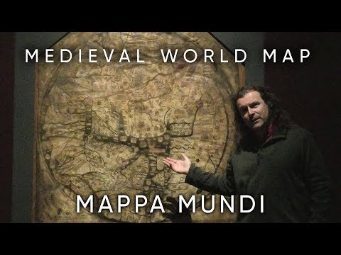 A Medieval World Map, the Mappa Mundi, what does it show and why?