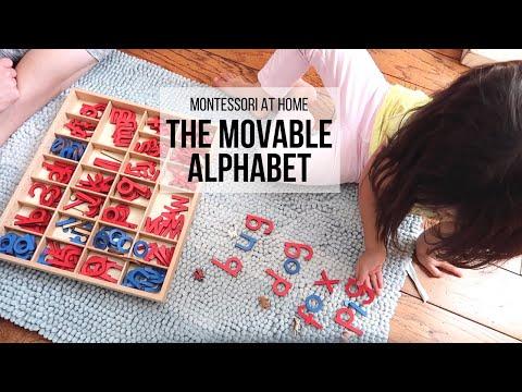 MONTESSORI AT HOME: The Movable Alphabet