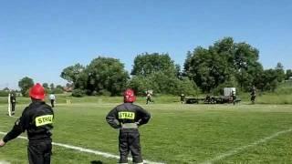 Gminne zawody sportowo pożarnicze 2011 - sztafeta pożarnicza OSP Świdnik Duży - 1 drużyna