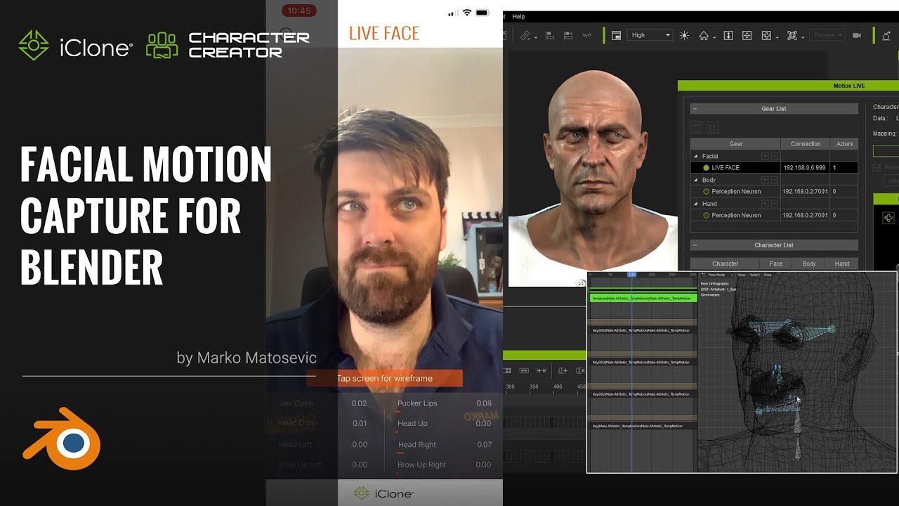 blender animation - facial motion capture for blender
