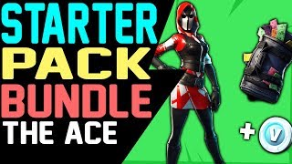 Fortnite NEW STARTER PACK THE ACE - How to Get The Ace Starter Pack Skin and Back Bling