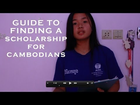 Guide to finding a scholarship (for Cambodian) Part I