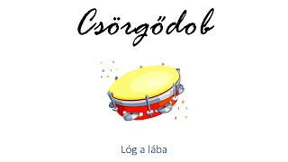 Hangszer ovi - Lóg a lába (csörgődob) / Hungarian children song (cat, cow, dog, animal)