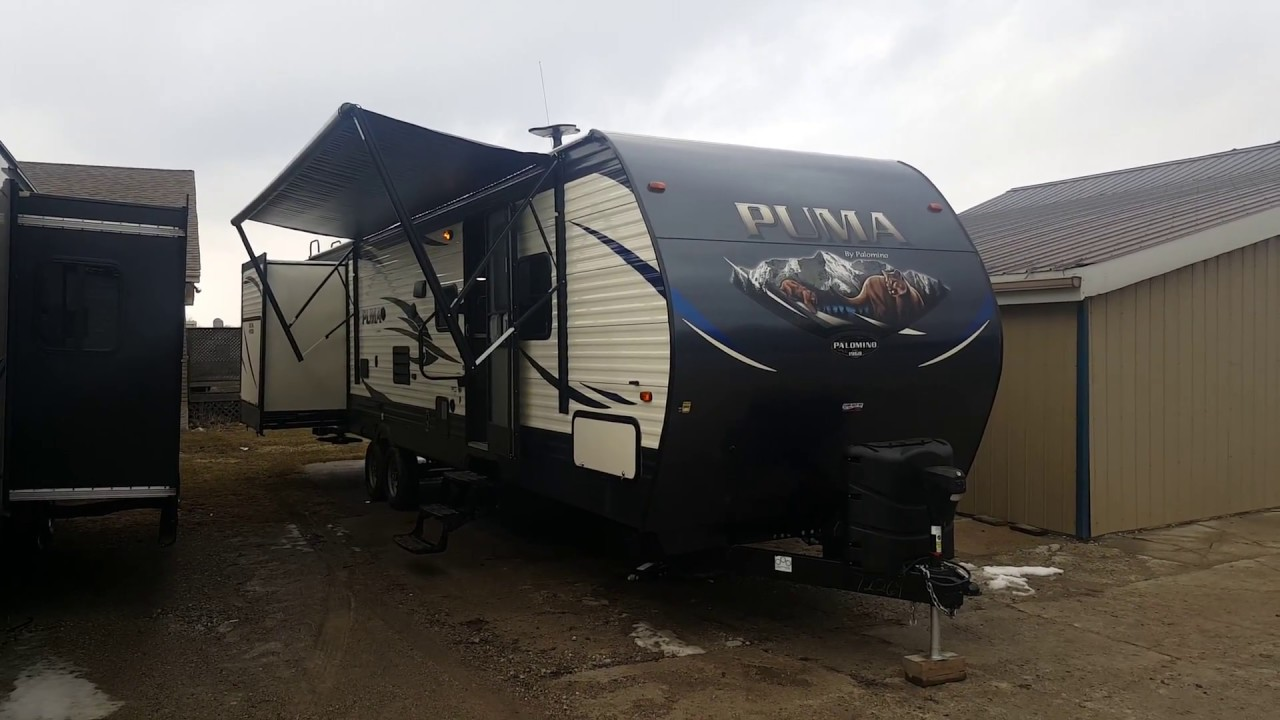 2018 Puma 31DBTS 2 bedroom Travel Trailer with an Outside ...