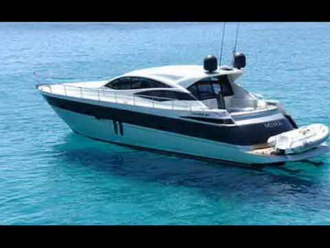 Charter motor yacht Pershing Mima I in Greece.wmv