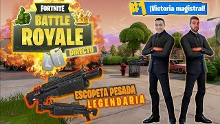 MI MEJOR PARTIDA CON *ESCOPETA PESADA LEGENDARIA* - FORTNITE
