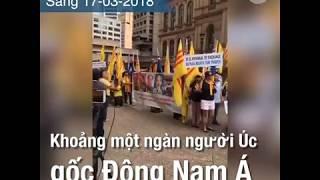 Người Úc gốc Đông Nam Á biểu tình phản đối các lãnh đạo ASEAN