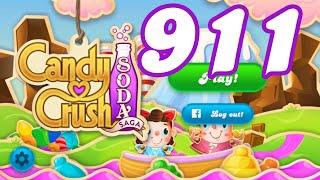 Candy Crush Soda Saga Level 911 No Boosters