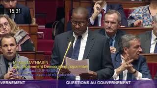 Intervention de Max Mathiasin à l'assemblée Nationale