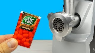 EXPERIMENT: MEAT GRINDER VS TIC TAC