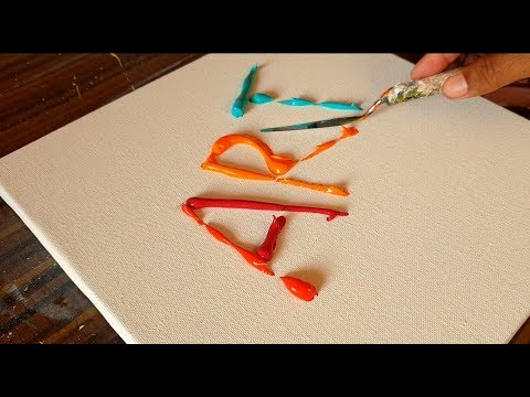 ART / Abstract Painting Demonstration / Satisfying / Project 365 days / Day #0275