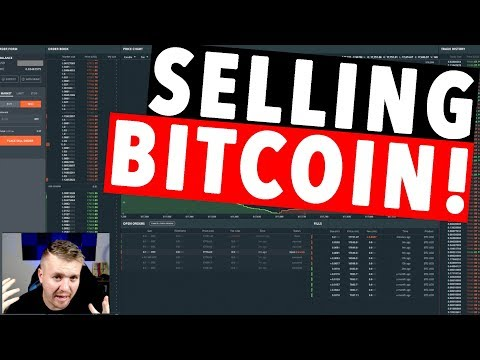 SELLING BITCOIN FOR USD! GDAX LIVE!