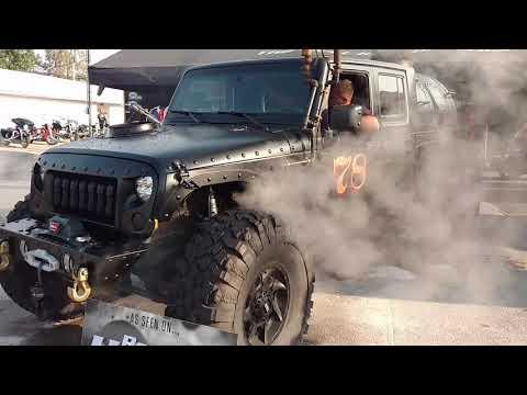Hauk Steam powered Jeep firing boiler