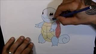 How to Draw Squirtle Schiggy Pokemon Go