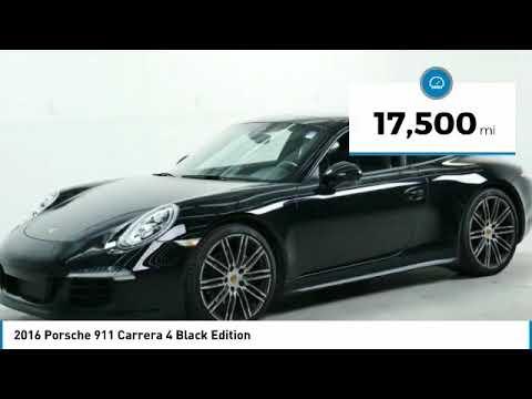 2016 Porsche 911 Carrera 4 Black Edition Minnetonka Minneapolis Wayzata Mn 25591a