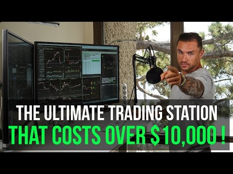 """Day Trading Setup & Station with Dell 43"""" 4k P4317q Monitors That Costs $10,000"""