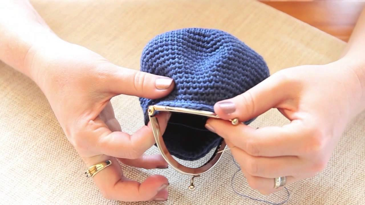 Tutorial How To Attach A Coin Purse Opener To A Crocheted Coin