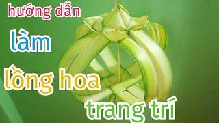 Nghệ thuật hoa treo cổng bằng lá dừa đẹp đơn giản #TOITNT