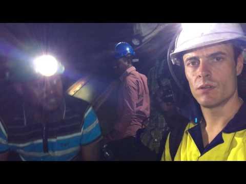 Nicols Tanzanite Mining Adventures Ep3 - 1100 meters depth - Modern Mining Gondwana Resources