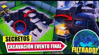 NEW SECRETS BUNKER *FINAL EVENT* MYSTERY EXCAVATIONS *FILTRATED* FORTNITE BATTLE ROYALE