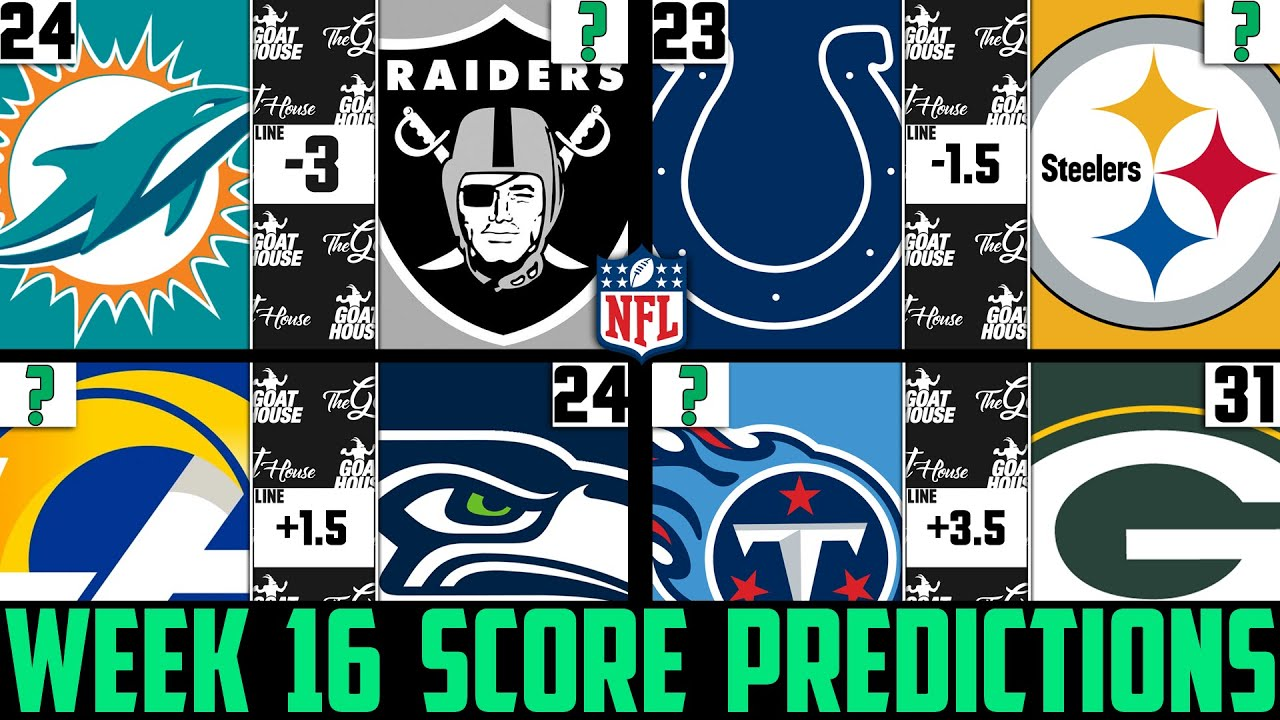 Nfl week 16 betting line football betting tips blogs