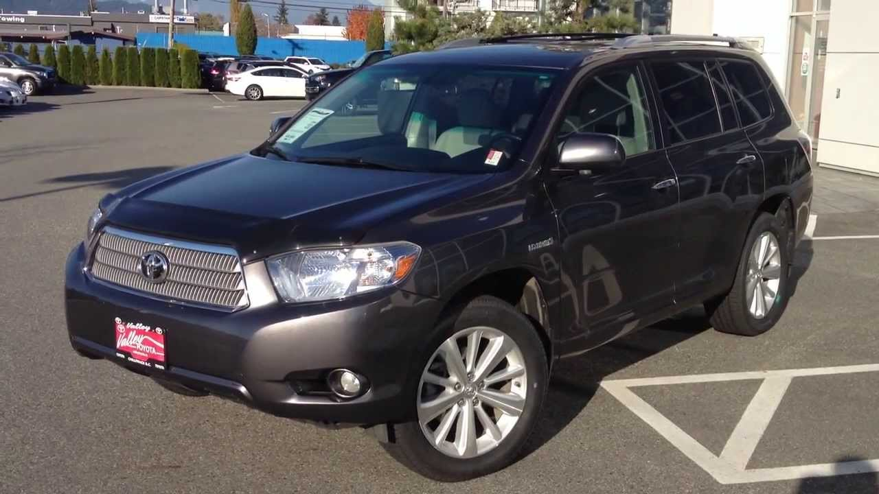 Sold 2010 Toyota Highlander Hybrid Limited At Valley Scion In Chilliwack B C B1398