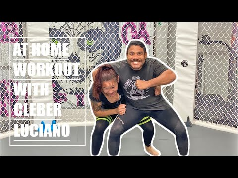 Home workout with Cris Cyborg and Cleber Luciano