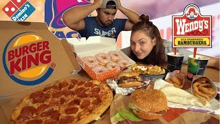 American Fast Food Challenge | 10,000+ Calories