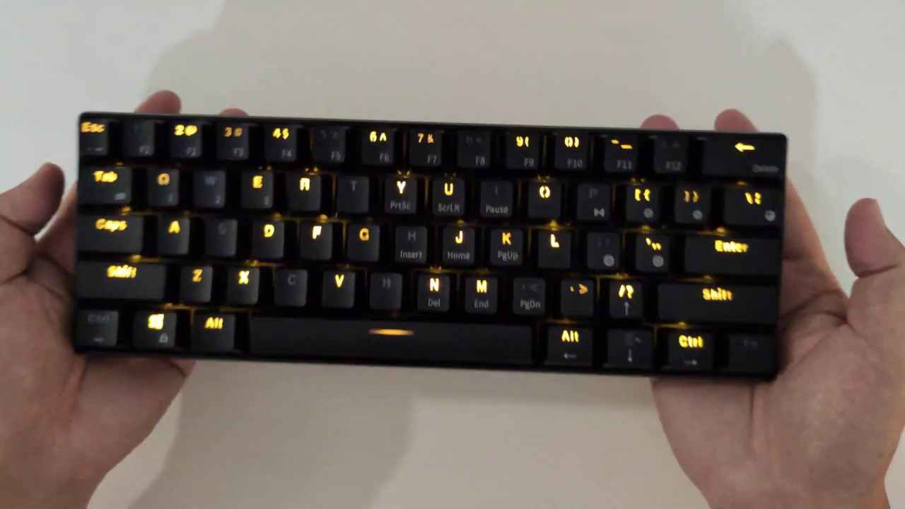 Honest Review And Function Use Royale Kludge Rk61 60 Bluetooth Mechanical Keyboard Youtube