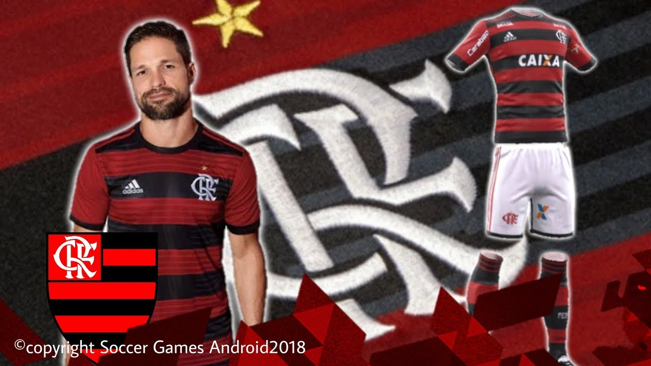 7970810f78 Kit Flamengo 2019 • para DLS18 E FTS. Soccer Games Android