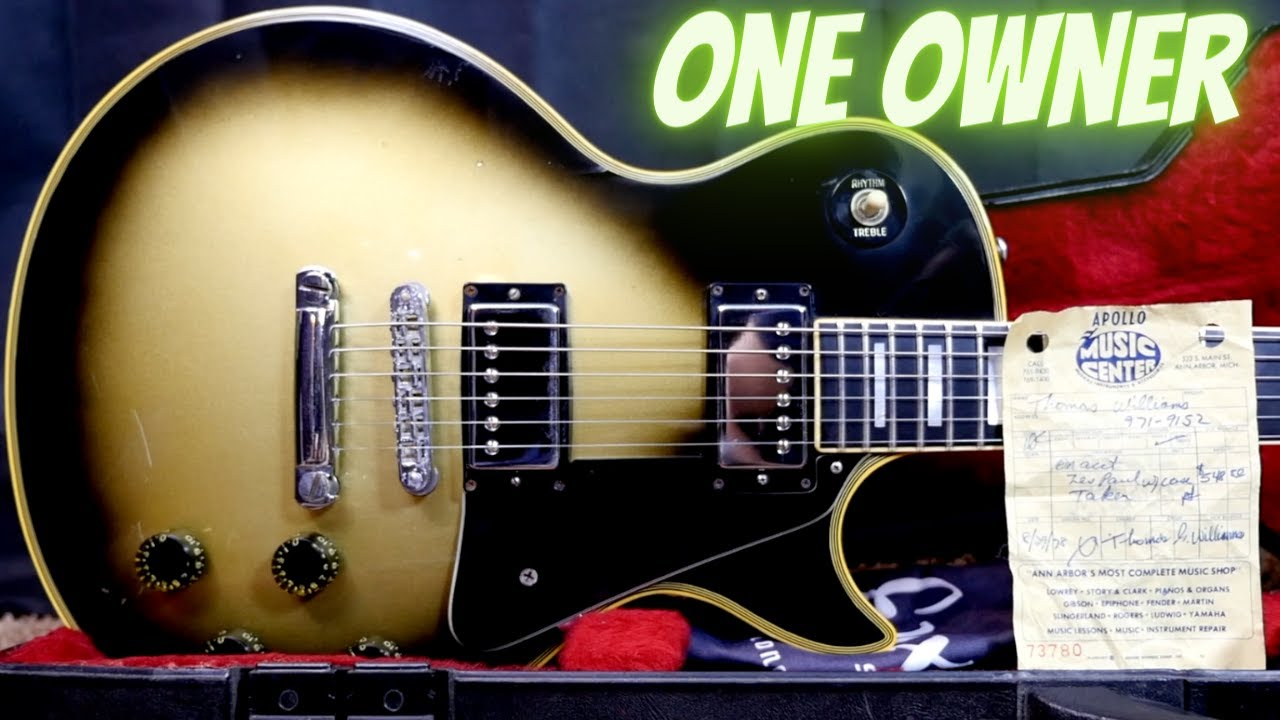 Buying a Silverburst From Its Original Owner | Story | 1978 Gibson Les Paul Custom Silverburst Demo