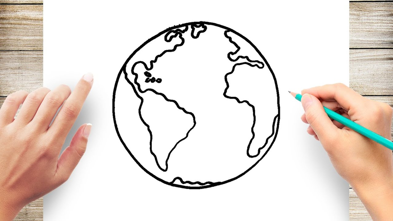 How To Draw Earth Youtube