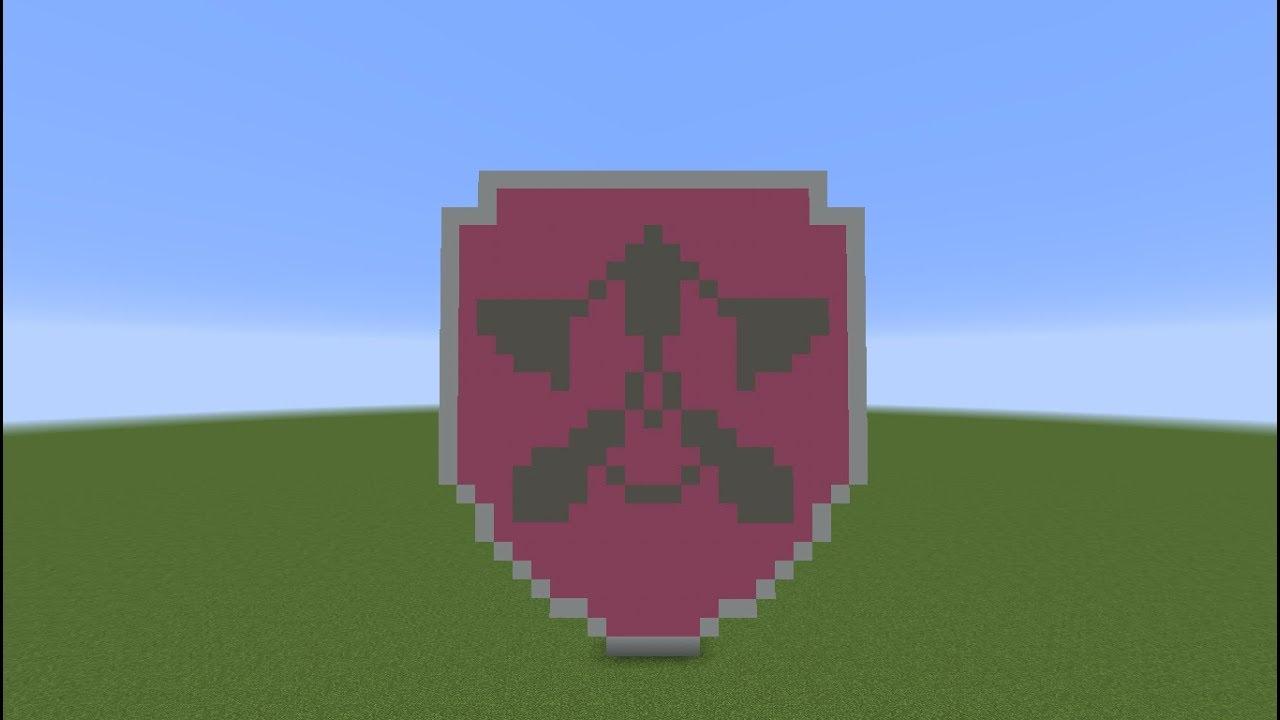Tuto Minecraft Pixel Art Badge De Stella Skye Pat