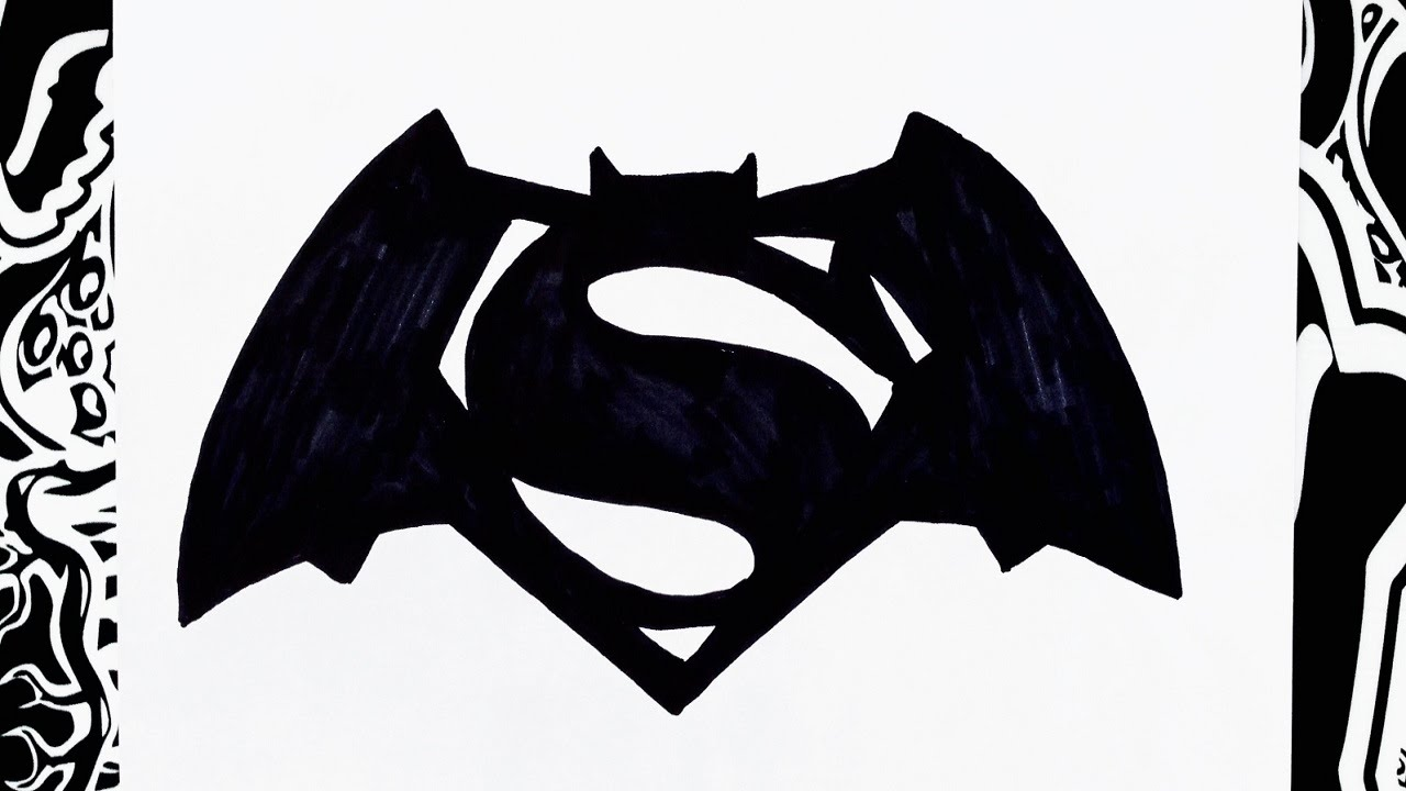 Como Dibujar El Logo De Batman Vs Superman