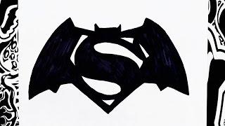 como dibujar el logo de batman vs superman | how to draw batman vs superman