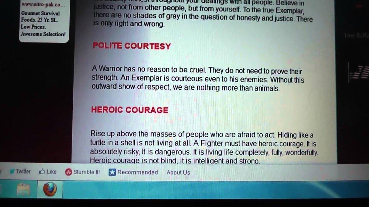 warrior code of conduct