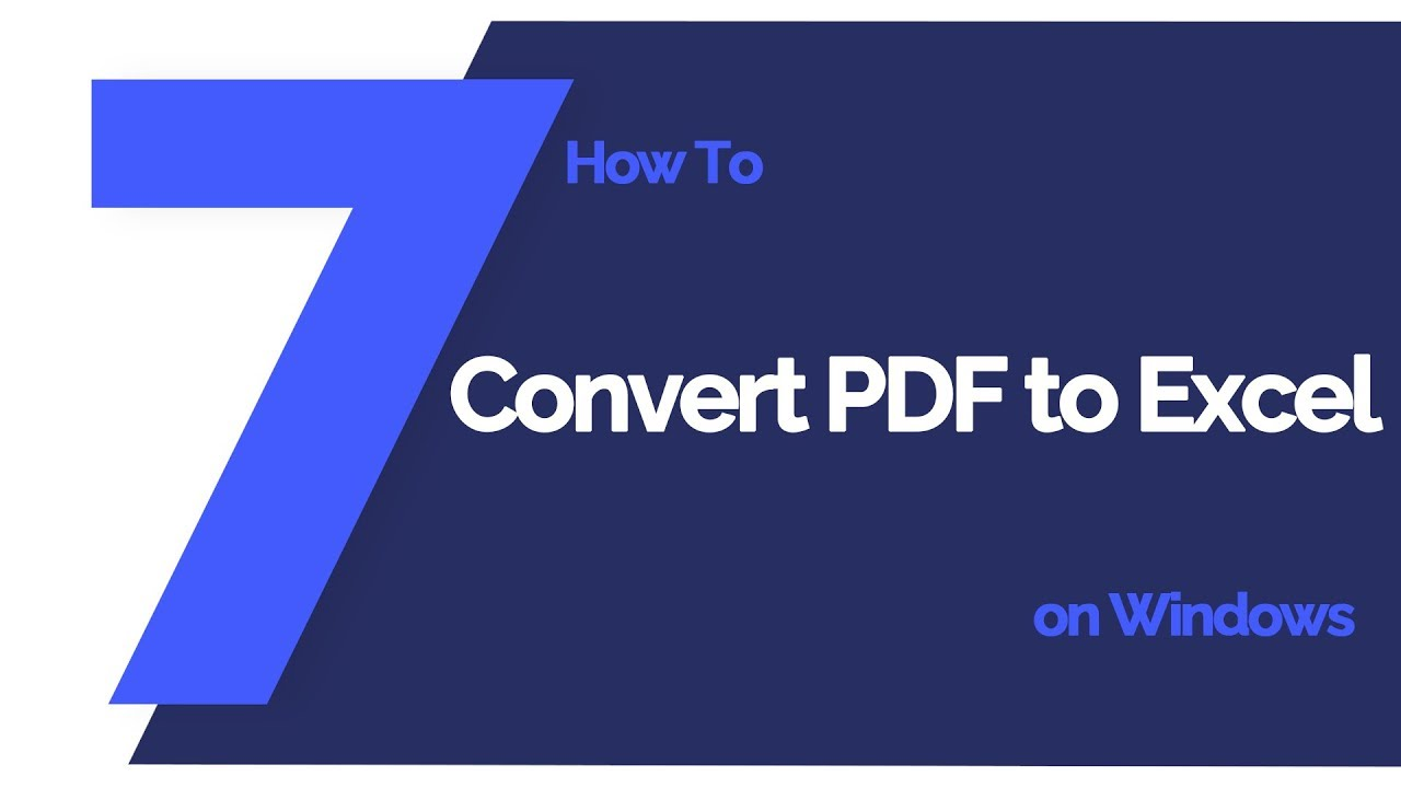 Best Way to Convert Scanned PDF to Excel | Wondershare