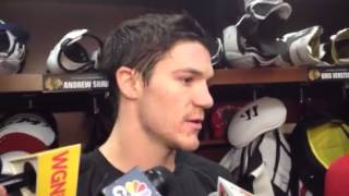 Andrew Shaw on Mike Smith