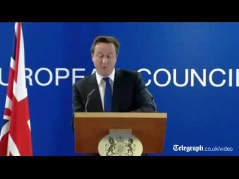 David Cameron Veto Europe EU No no no to european treaty