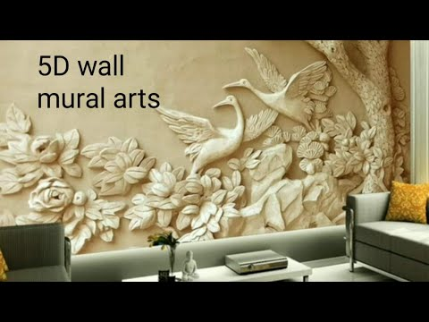 5d Wall Mural 3d Wallpaper Living Room Bedroom Hall Carving Embossing Design From Hyderabad Youtube