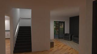 SketchUp 3D House Walk-Through