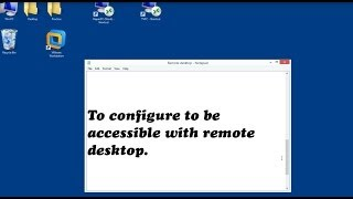 How to configure a PC in VMWARE workstation 10 accessible to Remote Desktop