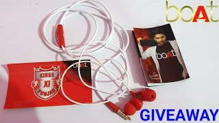 boAtKings XI PunjabEdition Bassheads100Earphones Unboxing & Review | GIVEAWAY
