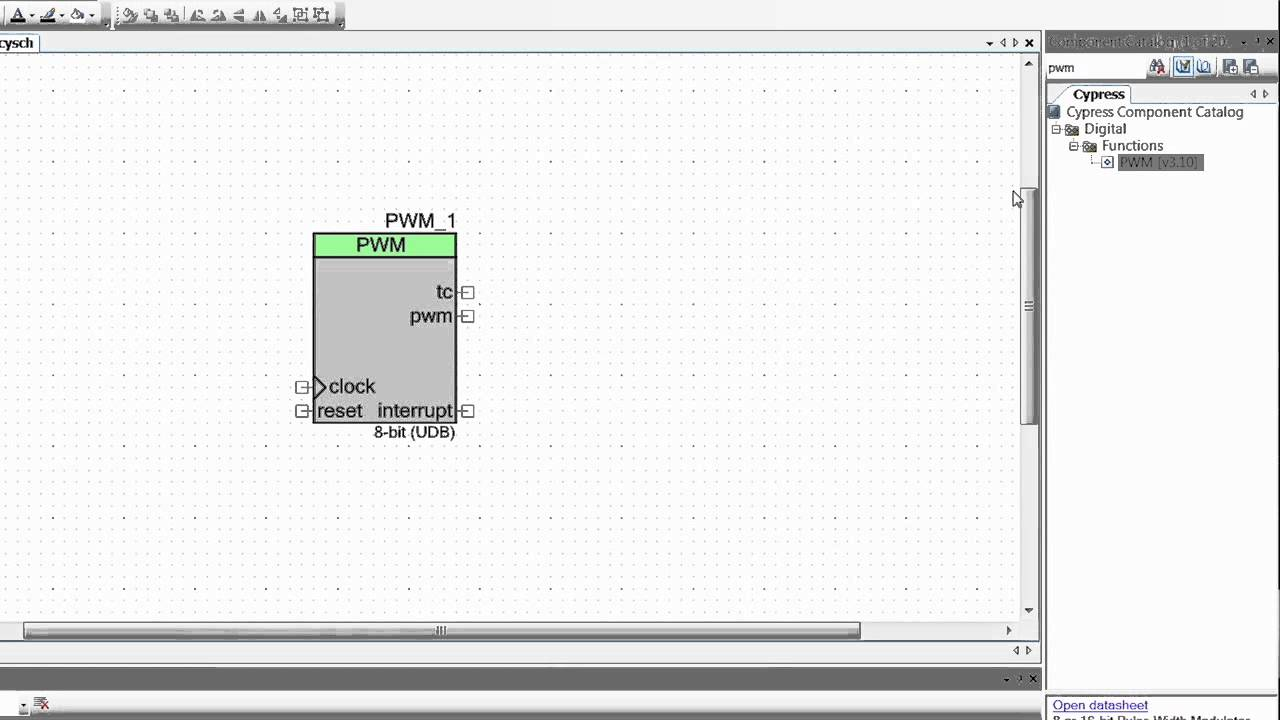 How To Blink An Led Using A Pwm Component With Psoc 5lp Youtube The Pulse Width Modulation Circuit Diagrams From Video