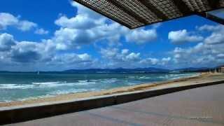Arenal Mallorca Am geschlossenen Ballenario 3 und super Wetter im Winter
