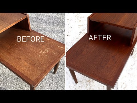 Refinishing a Garage Sale Mid Century Modern End Table
