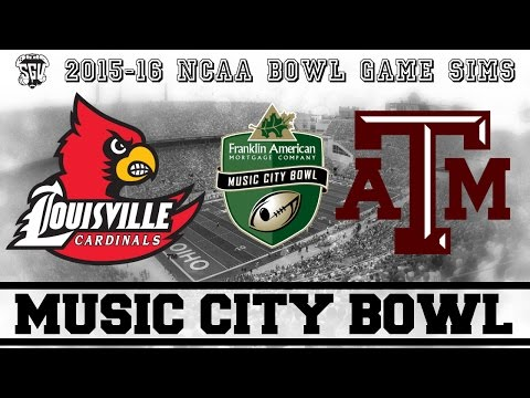 Franklin American Mortgage Music City Bowl Sim Texas A&M vs Louisville  NCAA 14