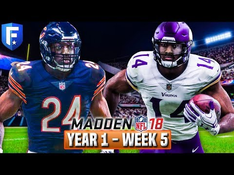 Madden 18 Bears Franchise Year 1 - Week 5 vs Vikings | Ep.6