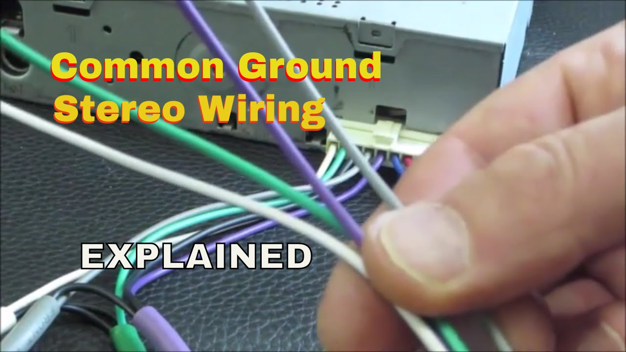 Wiring common ground speakers with an old school classic shaft radio -  YouTube | Realistic Car Radio Speaker Wiring Diagram |  | YouTube
